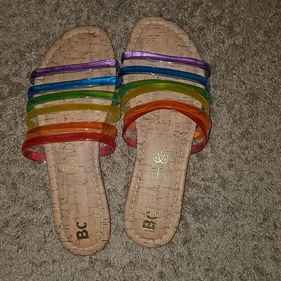 Modcloth Shoes - Modcloth rainbow sandals, size 9